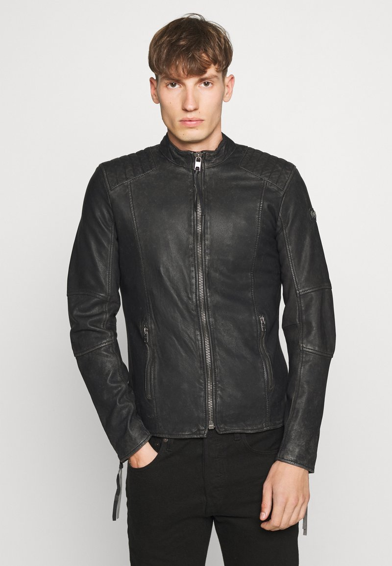 Tigha - TOMAS STONE - Leather jacket - vintage black