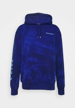 HOOD CHEVRON WASHED - Hoodie - rush blue
