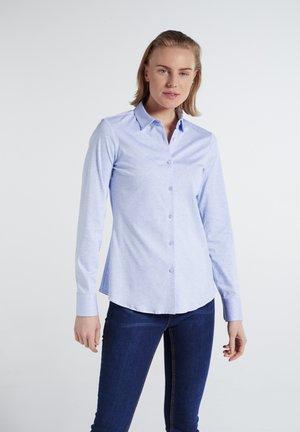 MODERN CLASSIC - Button-down blouse - hellblau meliert
