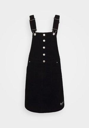 CROSSBACK DUNGAREE DRESS - Day dress - black