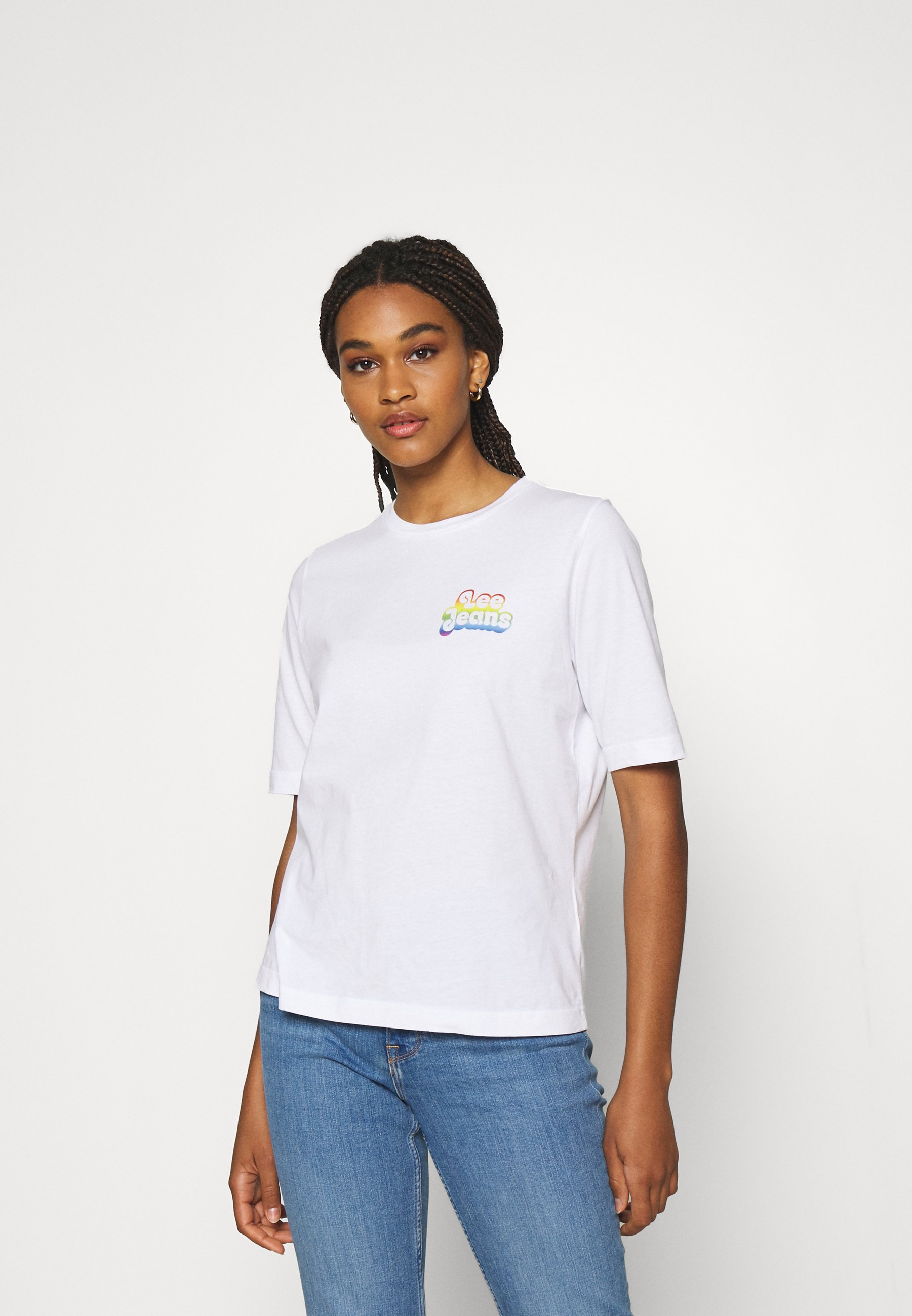 Women PRIDE CHEST GRAPHIC TEE - Print T-shirt