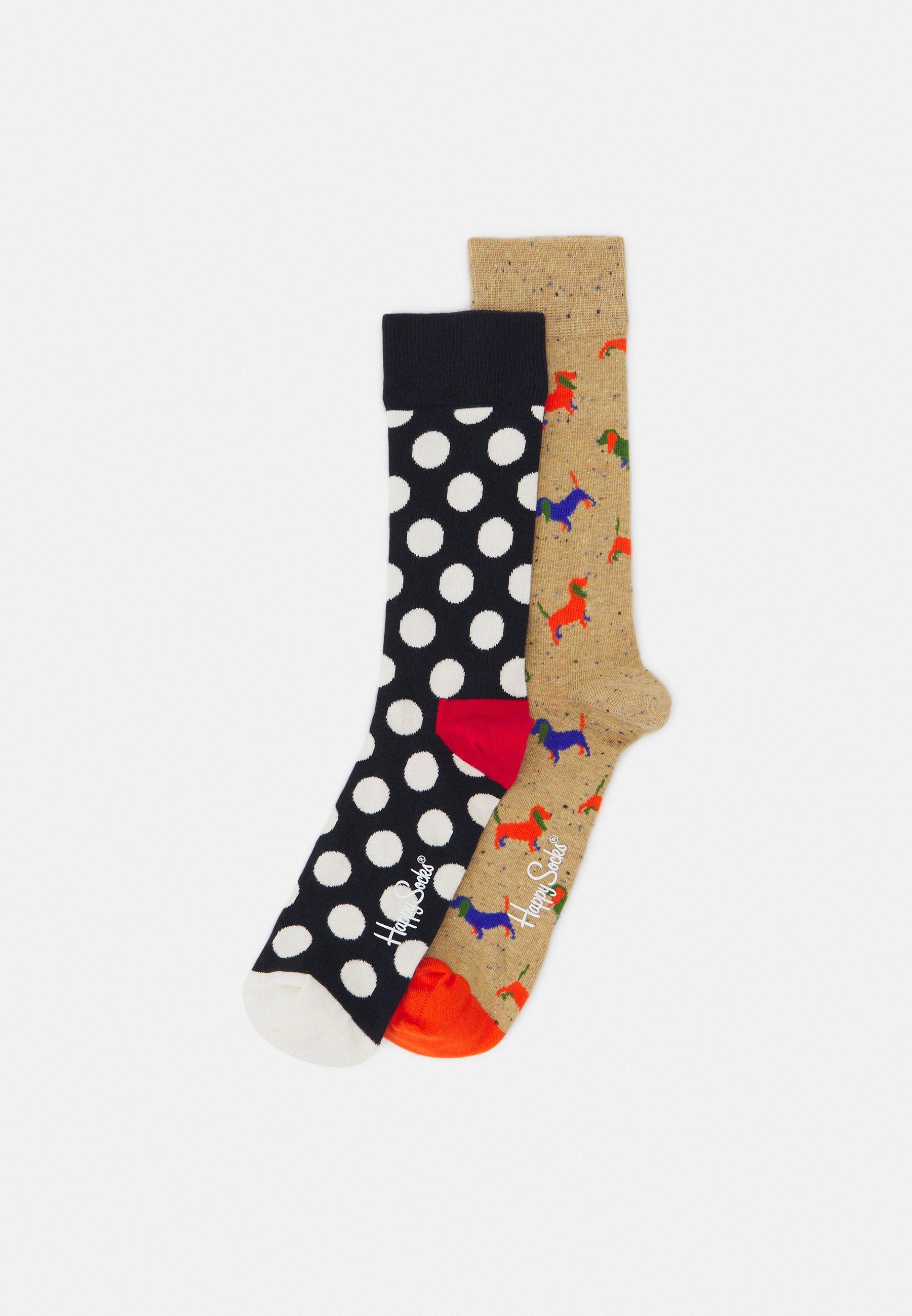 Men PUPPY LOVE BIG DOT 2 PACK UNISEX - Socks