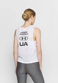 Under Armour - MUSCLE TANK - Sports shirt - white - 2