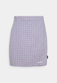 Kickers Classics - WRAP CHECKSKIRT - Mini skirt - purple - 0