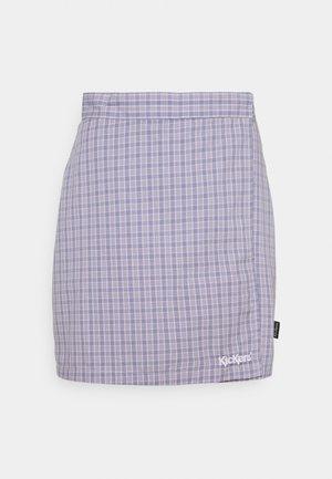 WRAP CHECKSKIRT - Mini skirt - purple
