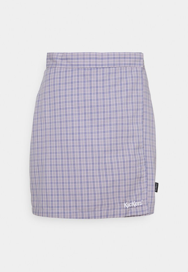 WRAP CHECKSKIRT - Minigonna - purple