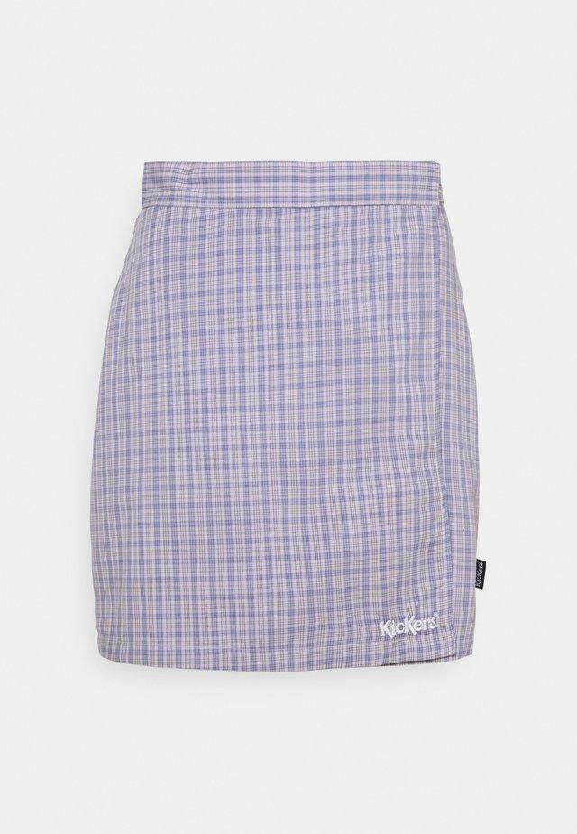 WRAP CHECKSKIRT - Minirok - purple