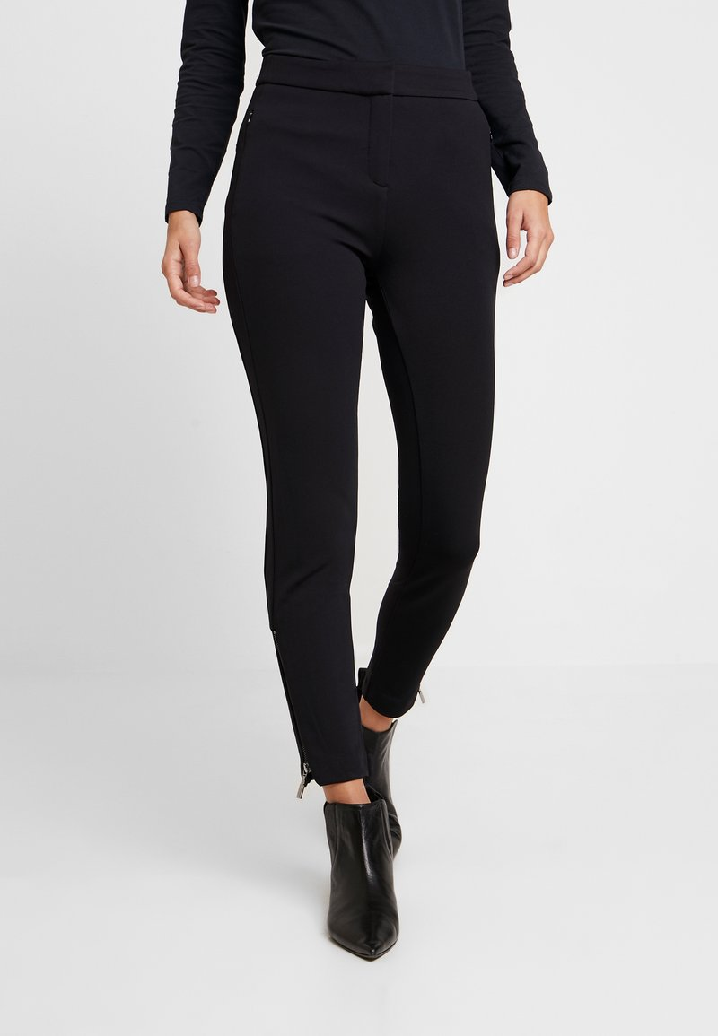 comma - HOSE - Trousers - black