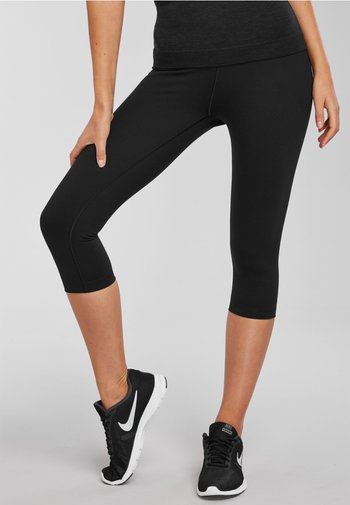 CROPPED HIGH WAISTED - Leggings - Trousers - black