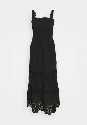SHEERED BRODARIE DRESS - Day dress - black