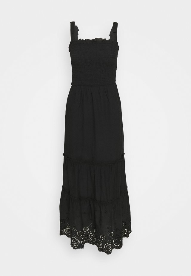SHEERED BRODARIE DRESS - Day dress - black
