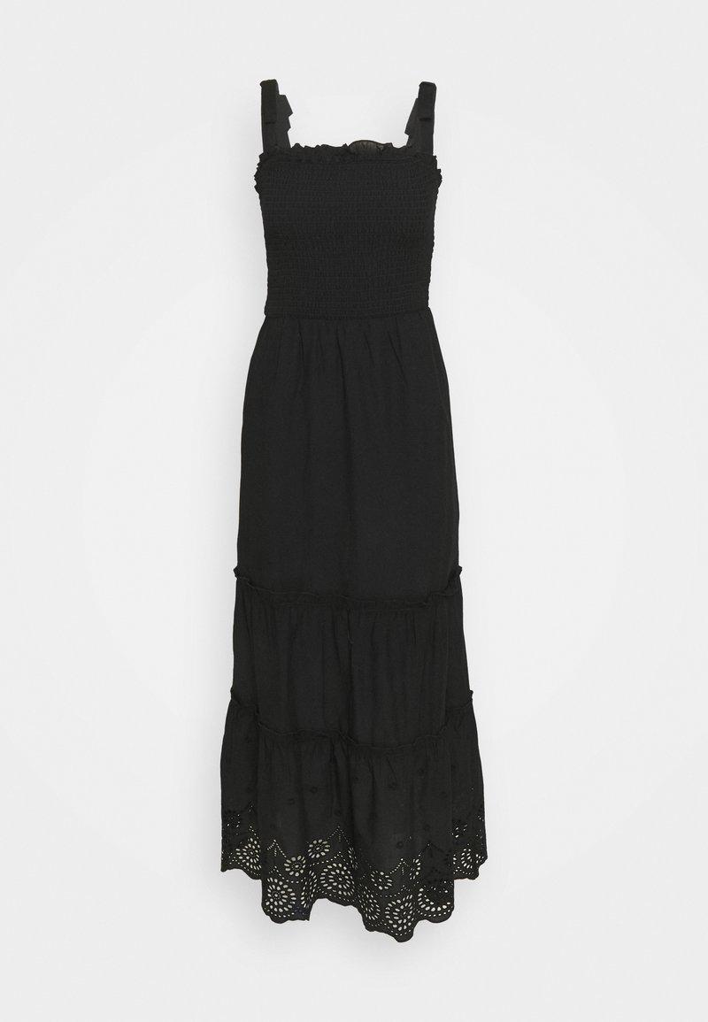 Dorothy Perkins - SHEERED BRODARIE DRESS - Denní šaty - black
