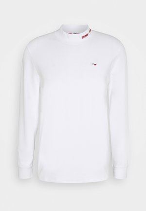 LONGSLEEVE HIGH NECK TEE - Long sleeved top - white