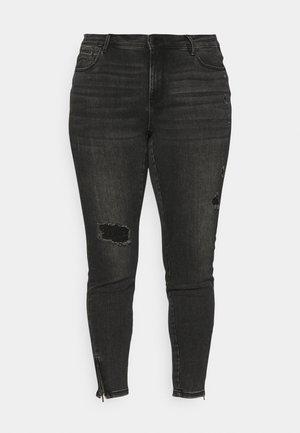 VMTILDE MR  ANKLE ZIP - Jeans Skinny - dark grey denim