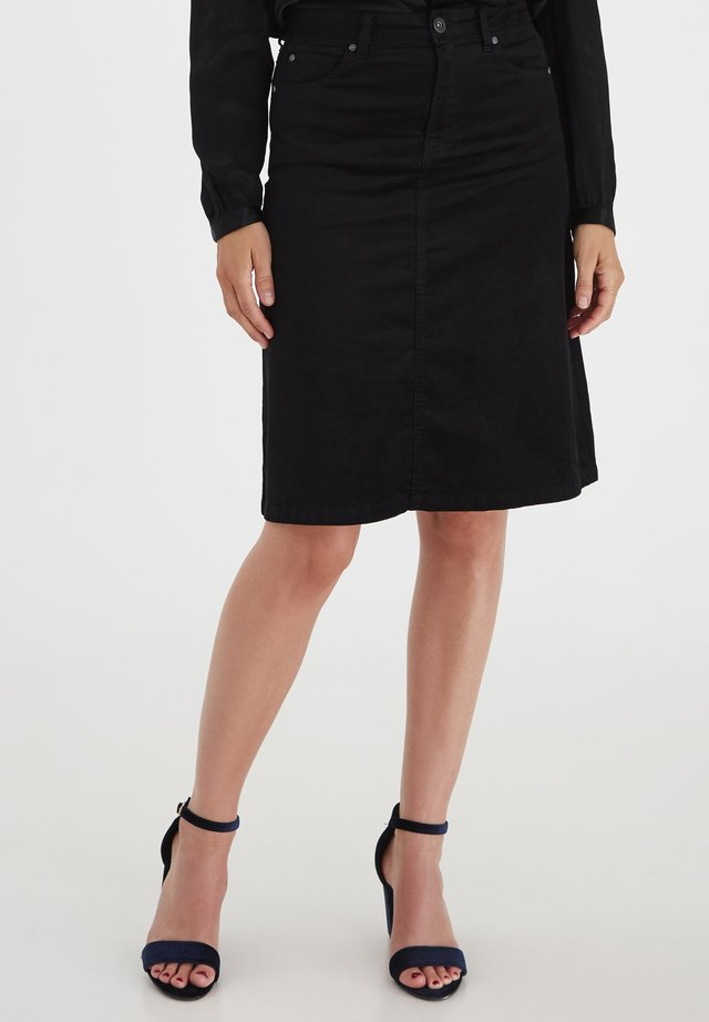 PZMARA - A-line skirt - black beauty