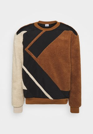 TEDDY BLOCK CREW - Sweatshirt - brown