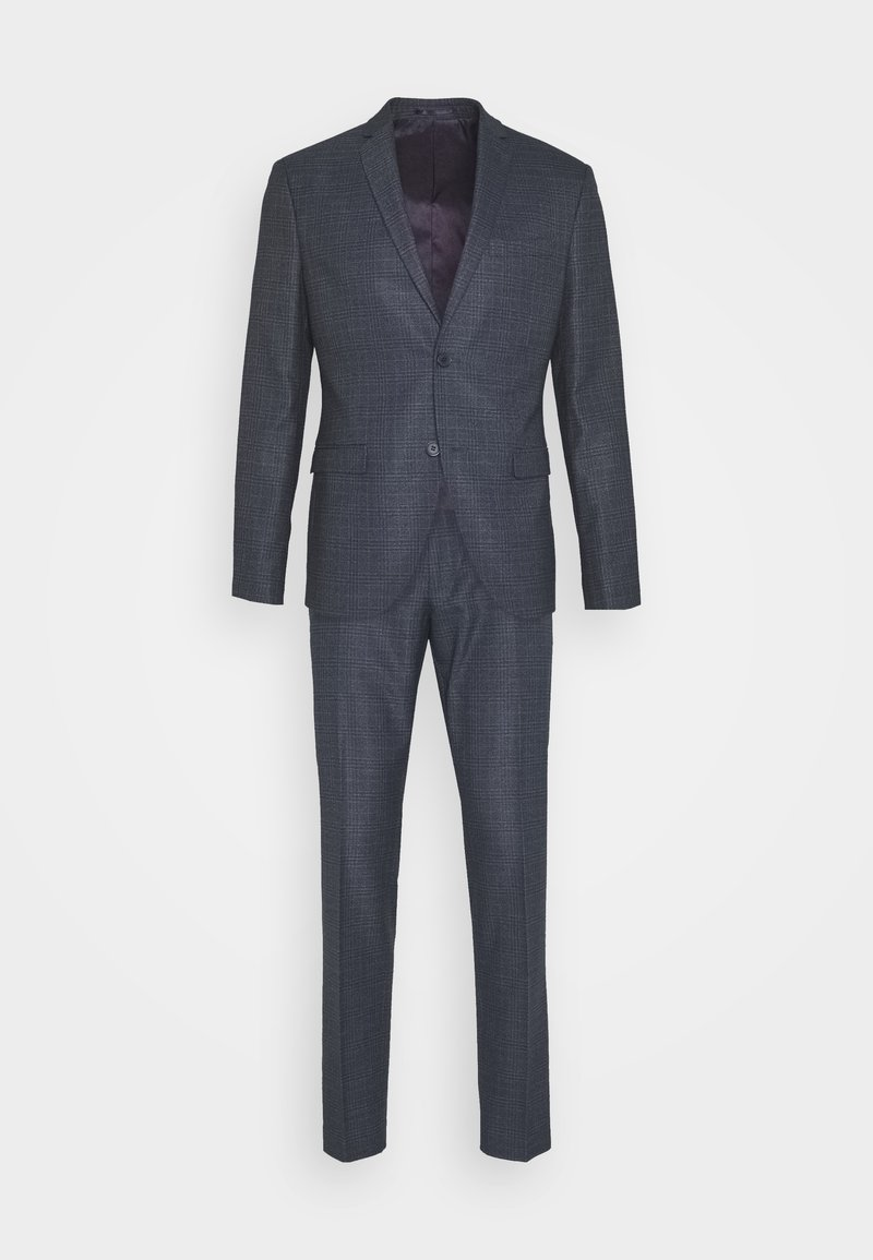 Isaac Dewhirst - CHECK SUIT - Suit - dark blue