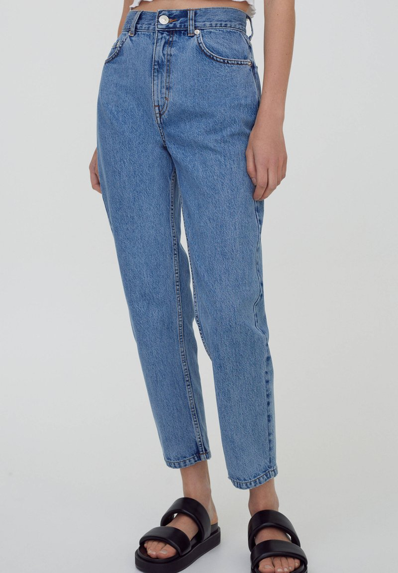 PULL&BEAR - MOM - Relaxed fit jeans - dark blue