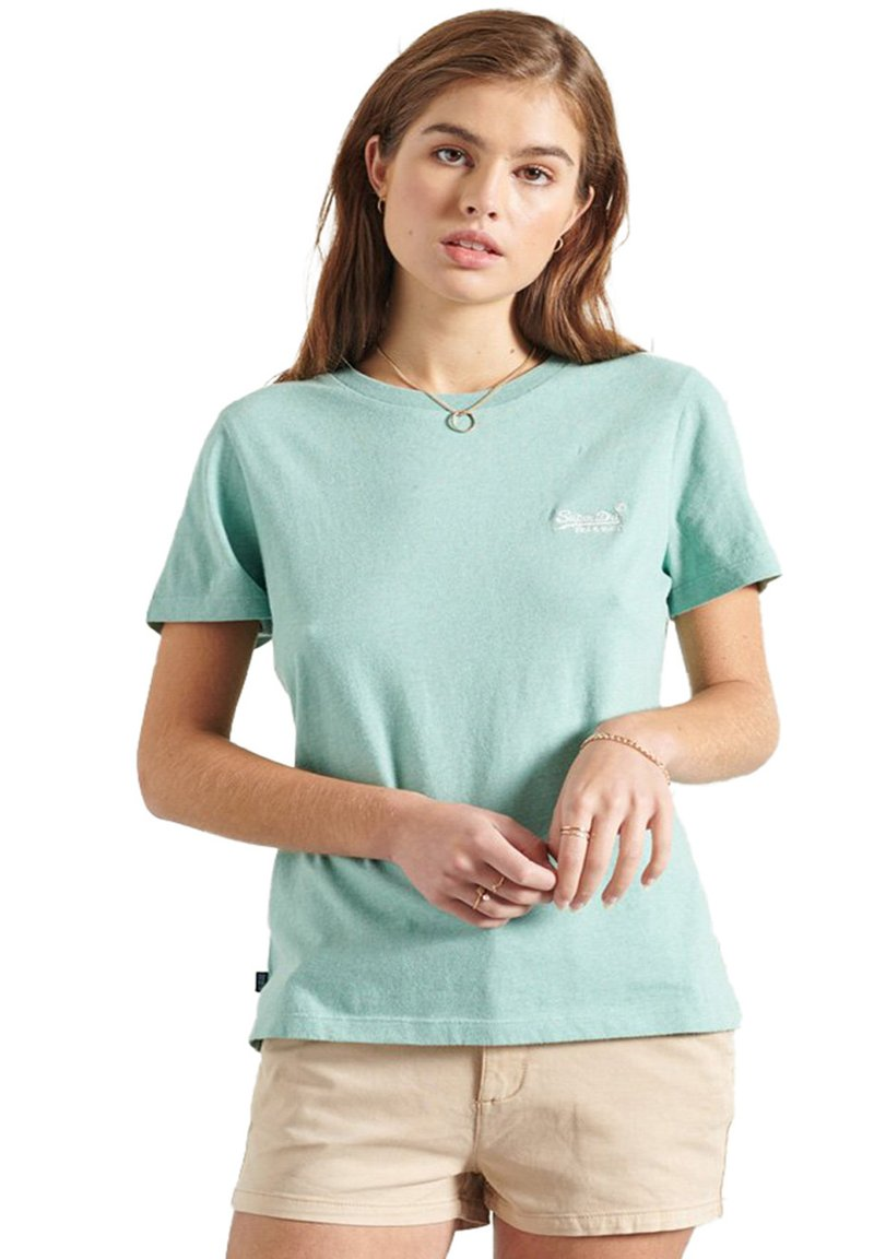 Superdry - CLASSIC  - Print T-shirt - sage marl