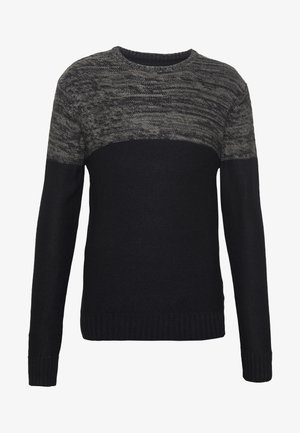 ROLAND - Jumper - black/charcoal twist