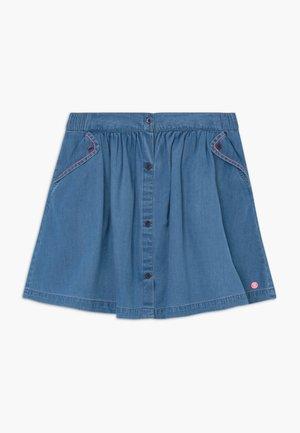 SKIRT - A-line skirt - medium wash denim