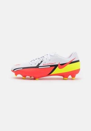 PHANTOM GT2 ACADEMY FG/MG - Fotbollsskor fasta dobbar - white/bright crimson/volt
