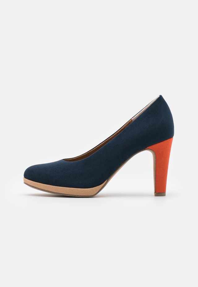 COURT SHOE - Escarpins à talons hauts - navy/multicolor
