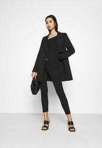 Even&Odd - Slim Fit Punto Trousers - Bukser - black - 1