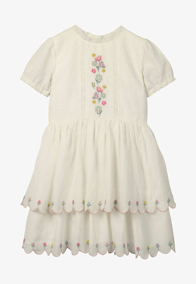 MIT MUSCHELSAUM - Day dress - natural white