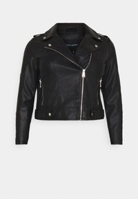 Vero Moda Curve - VMKERRIULTRA COATED JACKET  - Giacca in similpelle - black - 4