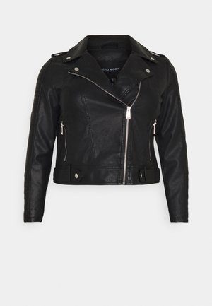 VMKERRIULTRA COATED JACKET  - Faux leather jacket - black
