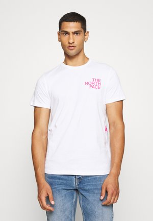 GRAPHIC FLOW - T-shirt med print - white/pink