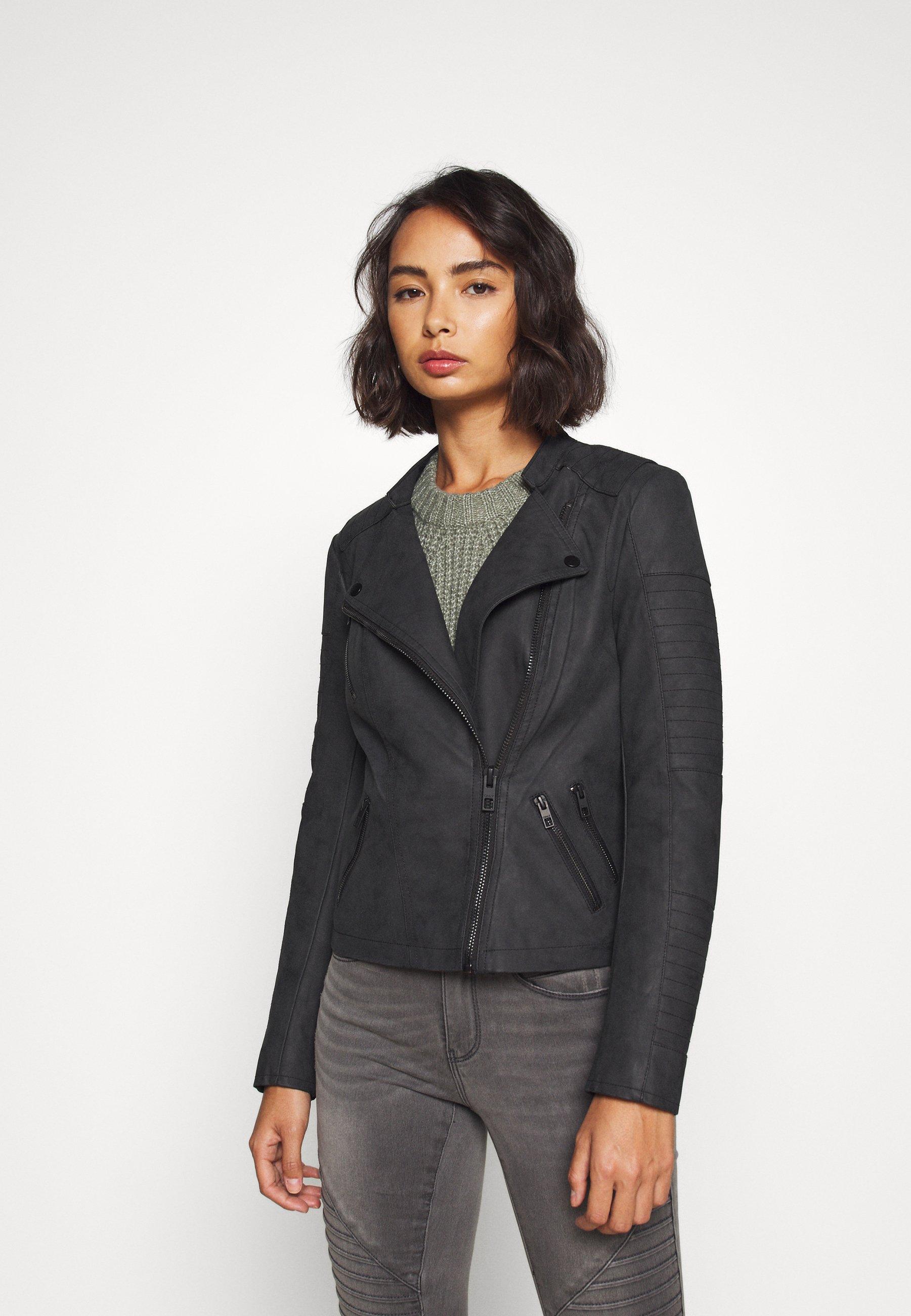 Women BIKER  - Faux leather jacket
