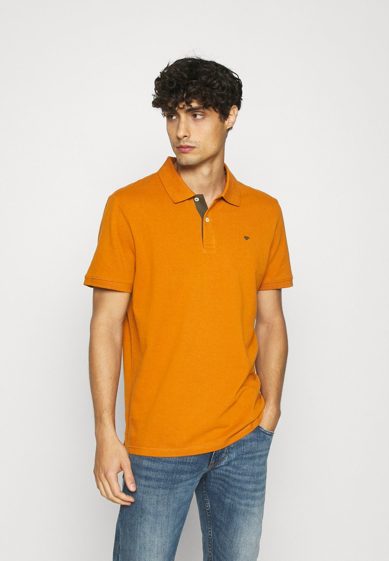 TOM TAILOR - WITH CONTRAST - Polo - spicy pumpkin orange