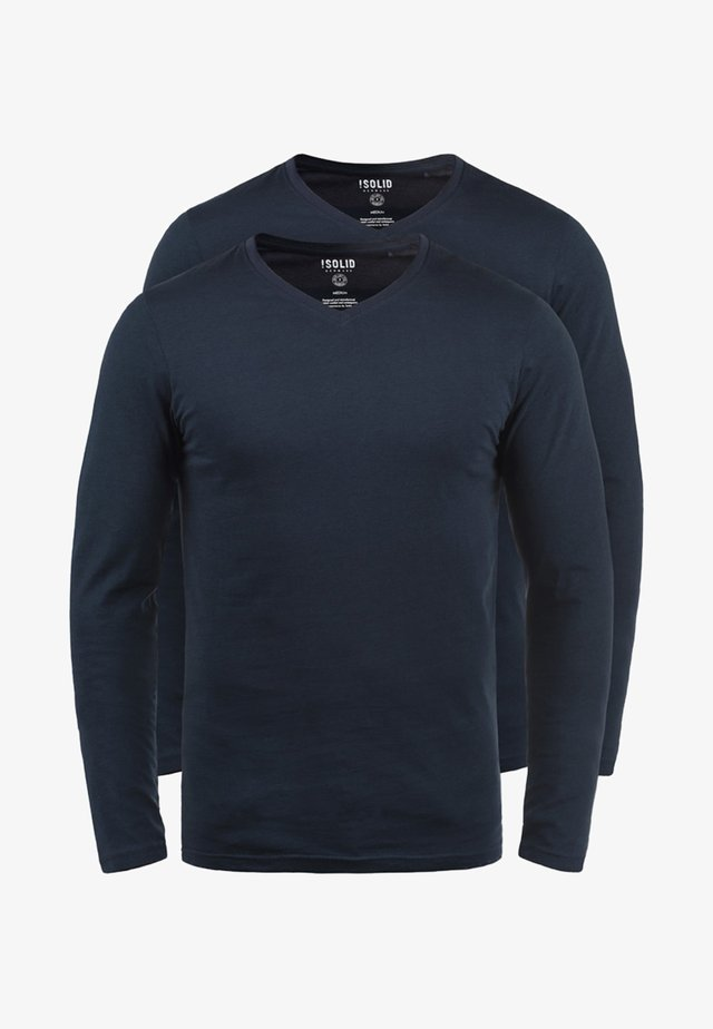 2PER PACK - Long sleeved top - dark blue