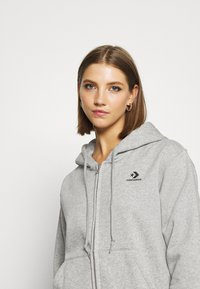Converse - WOMENS FOUNDATION FULL ZIP HOODIE - Zip-up hoodie - grey - 4