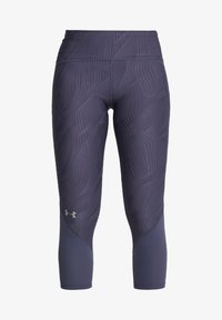 Under Armour - FLY FAST CROP - 3/4 sports trousers - blue ink - 6