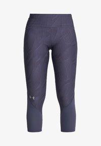 Under Armour - FLY FAST CROP - 3/4 sportovní kalhoty - blue ink - 6