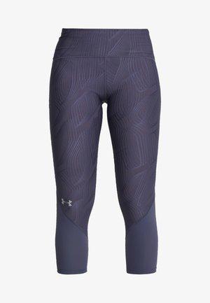 FLY FAST CROP - 3/4 sportovní kalhoty - blue ink