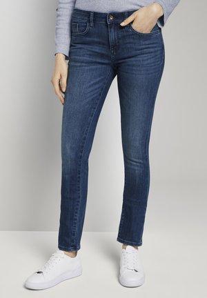 Jeans Slim Fit - used dark stone blue denim