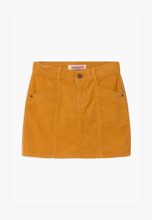 QATRIES - Mini skirt - ochre yellow