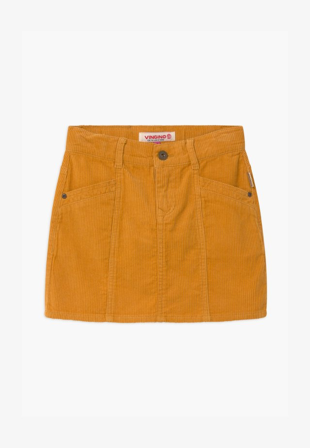 QATRIES - Minigonna - ochre yellow