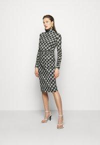 Proenza Schouler White Label - SHEER DRESS - Jersey dress - ecru/black - 1