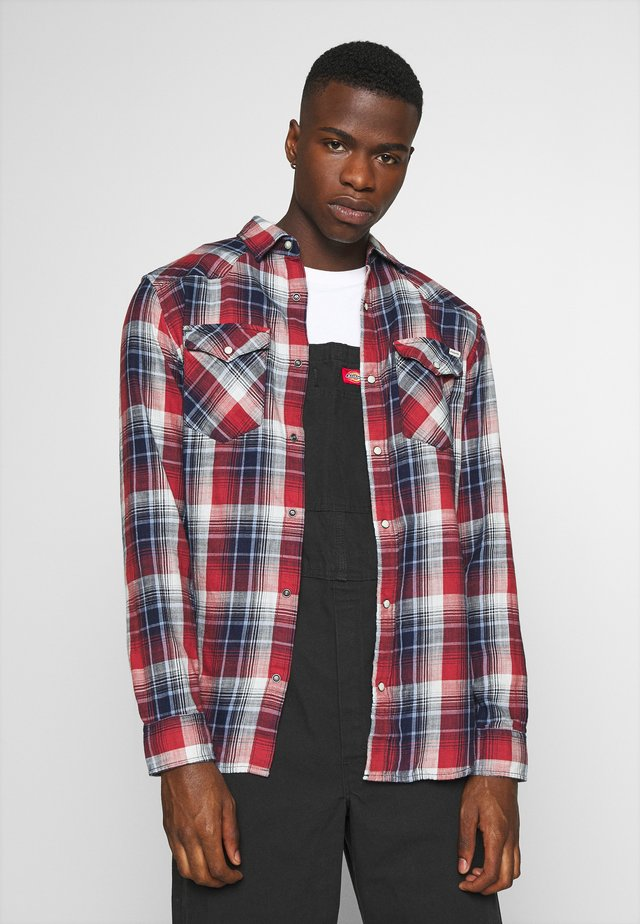 JJEWESTERN CHECK  - Shirt - tango red