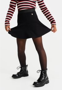 WE Fashion - MET DESSIN - Minirok - black - 0