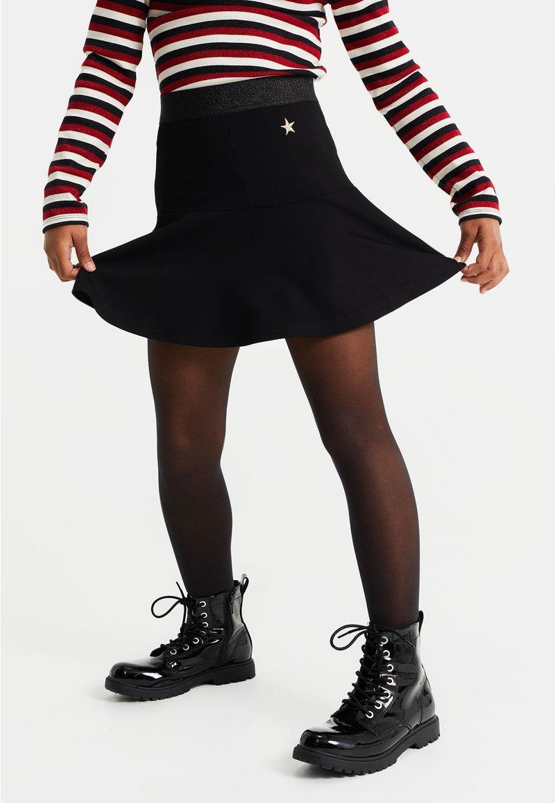 WE Fashion - MET DESSIN - Minirok - black