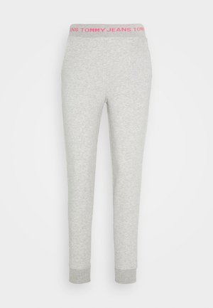 LOGO - Tracksuit bottoms - light grey heather