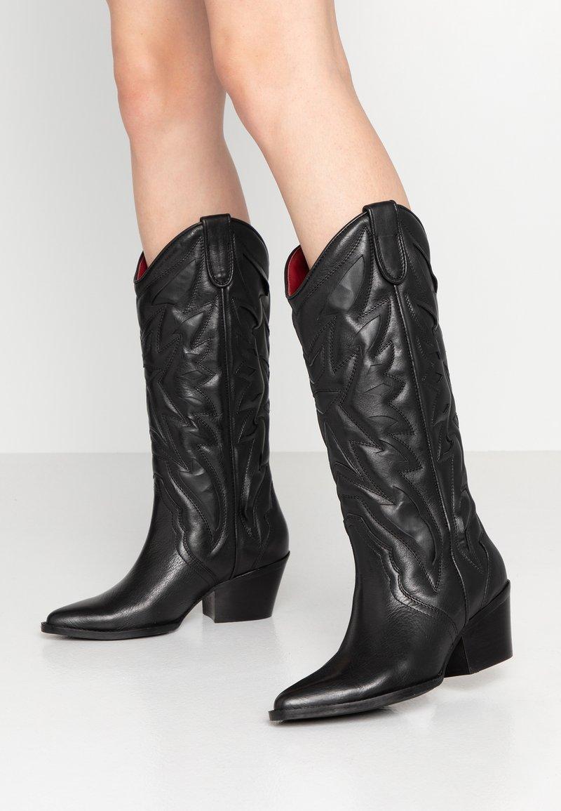 Bronx - JUKESON - Cowboy/Biker boots - black