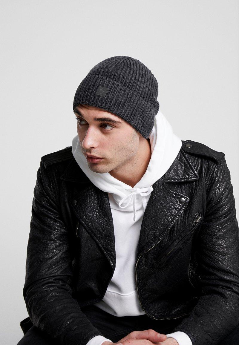 Knowledge Cotton Apparel - LEAF HAT UNISEX - Muts - dark grey