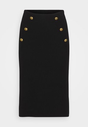 VANATU SKIRT - Gonna a tubino - black
